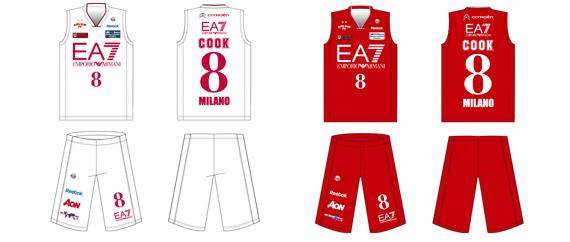 Le maglie reebok dell ea7 olimpia milano shopbasket for Basketball store milano